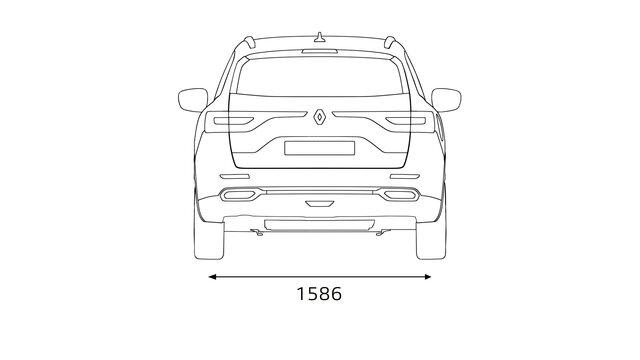 Fiche technique KOLEOS : dimensions et volume du coffre