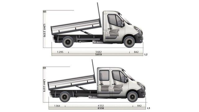 MASTER - Dimensions et motorisations