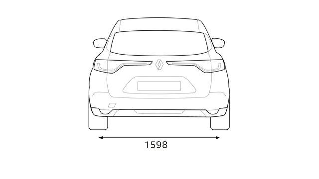 Ficha técnica e dimensões do MEGANE Sport Tourer- Renault