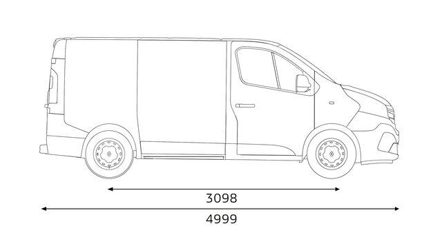 Dimensions TRAFIC Passenger : Longueur et volume du coffre