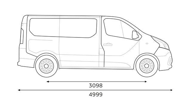 TRAFIC Passenger Abmessungen: Länge und Kofferraumvolumen