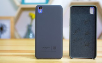 The phone's special case is nice to the touch