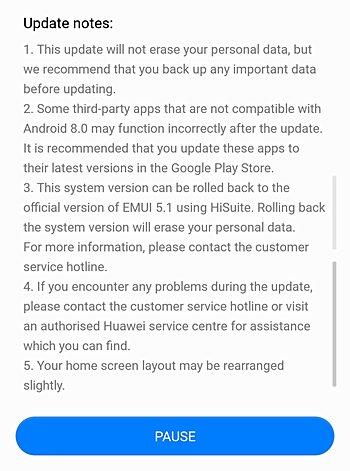 O log de mudanças da Build Oreo Beta do Huawei P10 revela alterações interessantes 3