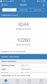 iPhone 8 Plus: Geekbench (before)