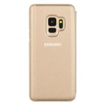 Galaxy S9 Clear View Stand cases: Gold