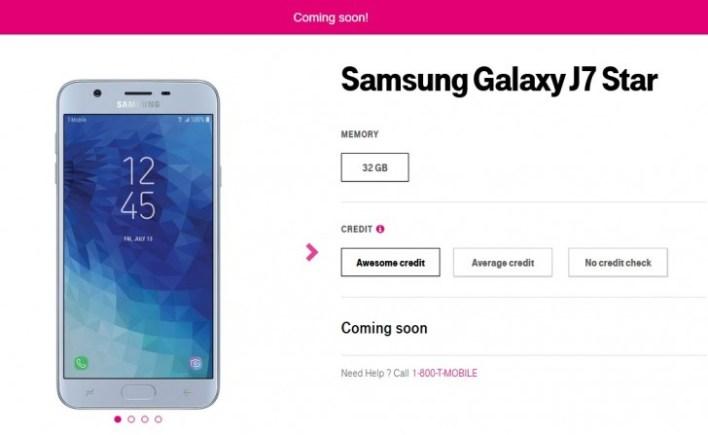 New midrange Samsung Galaxy J7 Star coming to T-Mobile