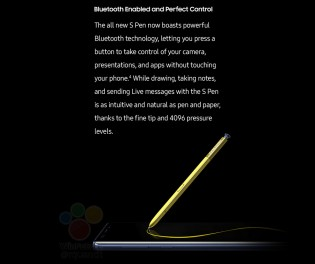 Galaxy Note9's S Pen will use Bluetooth to work as a remote shutter key