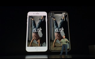 iPhone Xs Max compared to iPhone 8 Plus