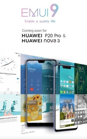 Indian Huawei P20 Pro and nova 3 to get Android 9 update