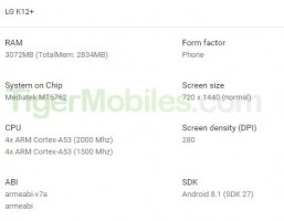 LG K12+ render and specs