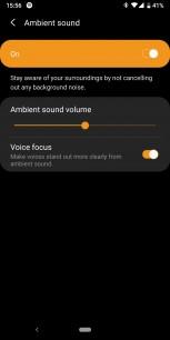 Screenshots of Galaxy Wear app