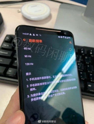 Asus ROG Phone 2 live images surface