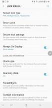 Lockscreen settings - Samsung Galaxy Note9 review