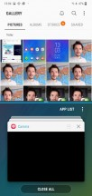 Advanced features menu and split-screen view - Samsung Galaxy M10 review