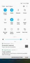 Lock screen, home screen, notification shade, app drawer, recent apps menu - Samsung Galaxy M10 review