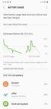 Device maintenance and battery features - Samsung Galaxy M10 review