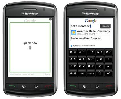 Both Blackberry Storms Get An Optimized Google Mobile App