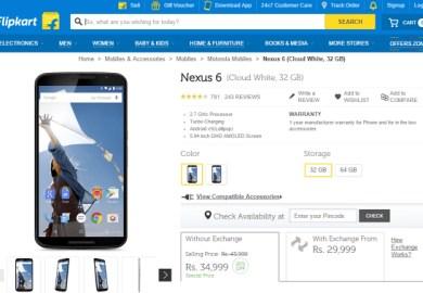 Google Nexus 6 Price In India Gsmarena