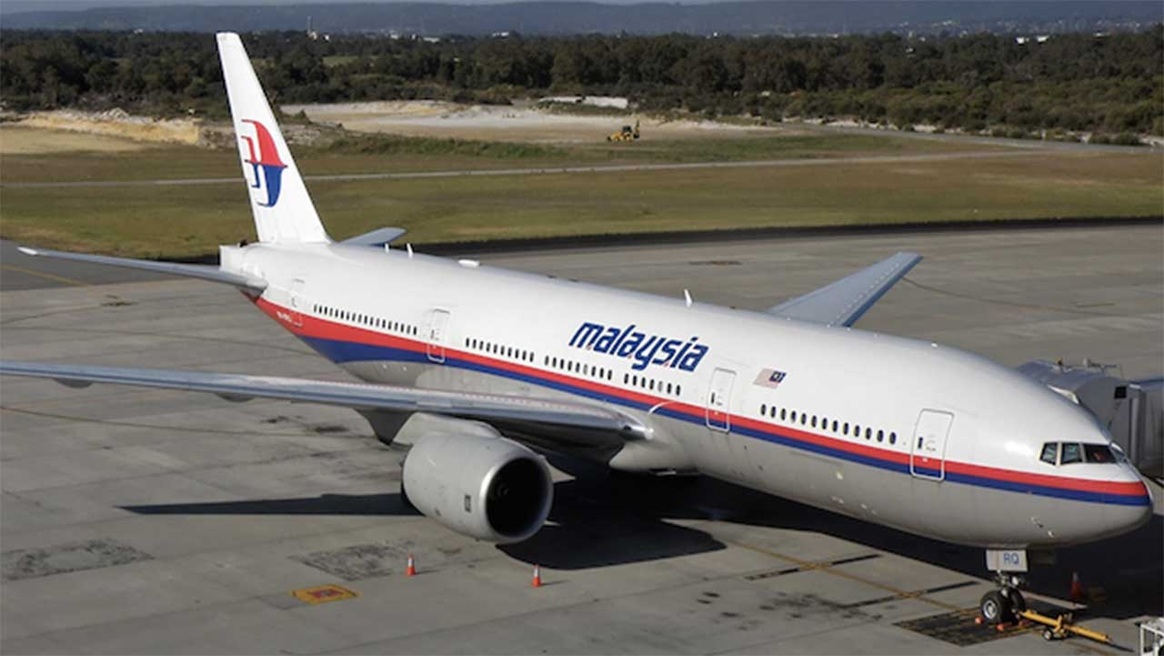 The Malaysian Jetliner MH370 before it crashed on March 8, 2014