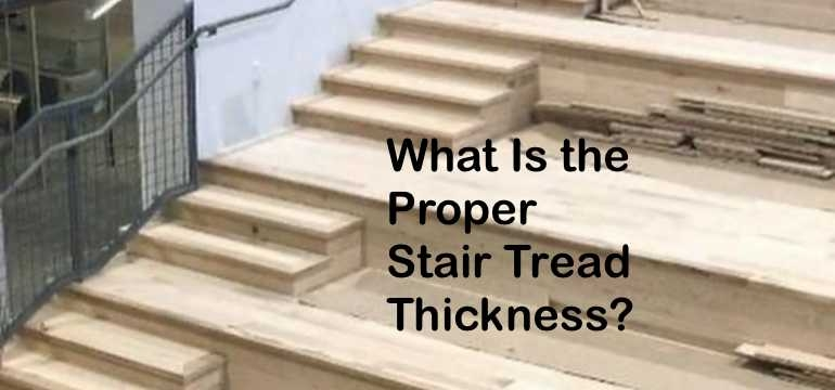 What Is The Proper Stair Tread Thickness   Best Wood For Exterior Staircase   Stair Tread   Stair Landing   Stair Railing   Stain   Deck Stain