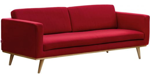 CHARLEEN Canaps Canap 3 places Rouge Tissu  Habitat