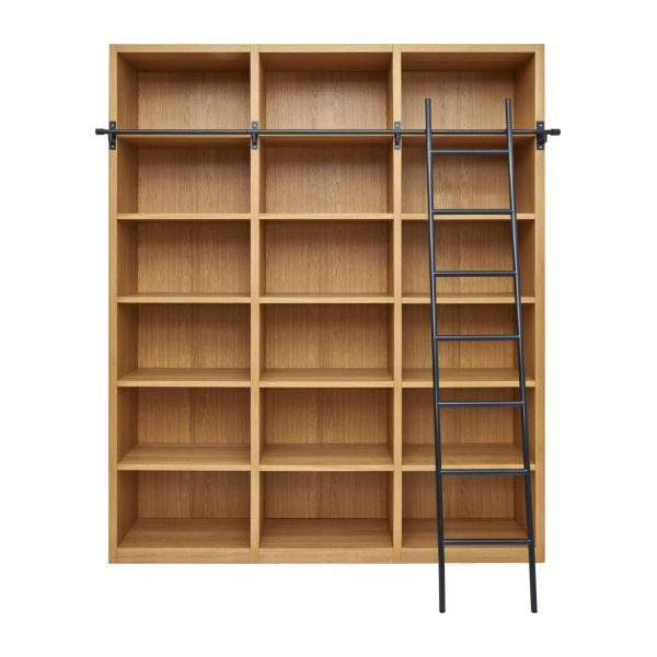 Camus  Wooden Bookcase With Ladder  Habitat