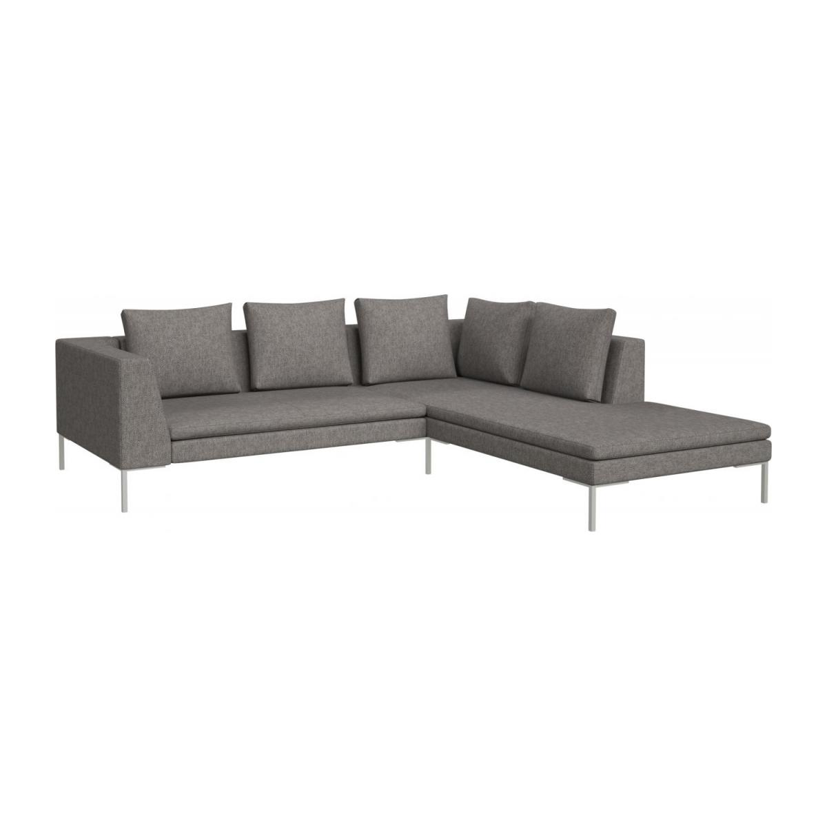 black sofa chaise longue baby montino 2 seater with on the right in