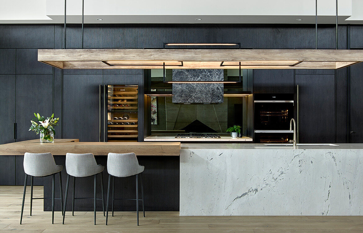 A Moody Modern Kitchen Design By Maker May Habitus Living