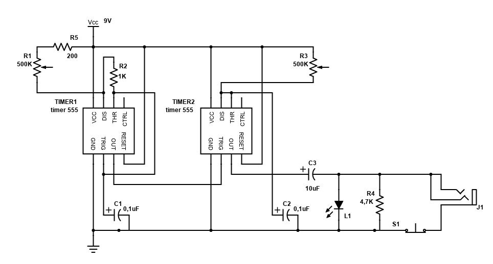 Atari Punk Console inside a proximity sensor case