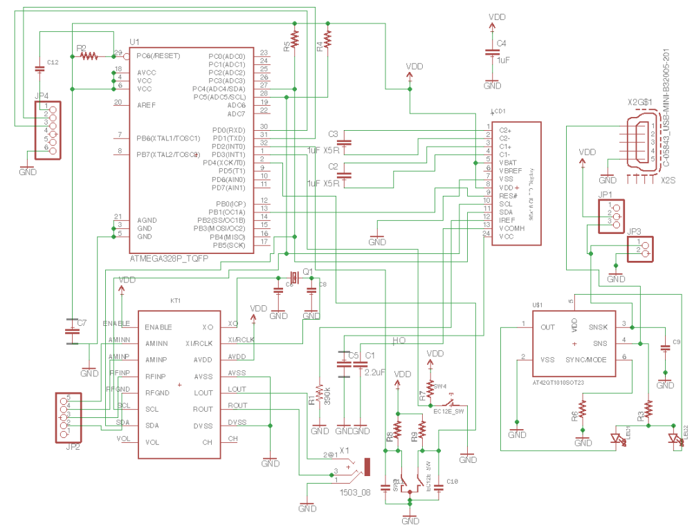 medium resolution of this is the whole schematic in the schematic i should point out at42qt in right down part is just put to use sot23 6 form factor and real parts