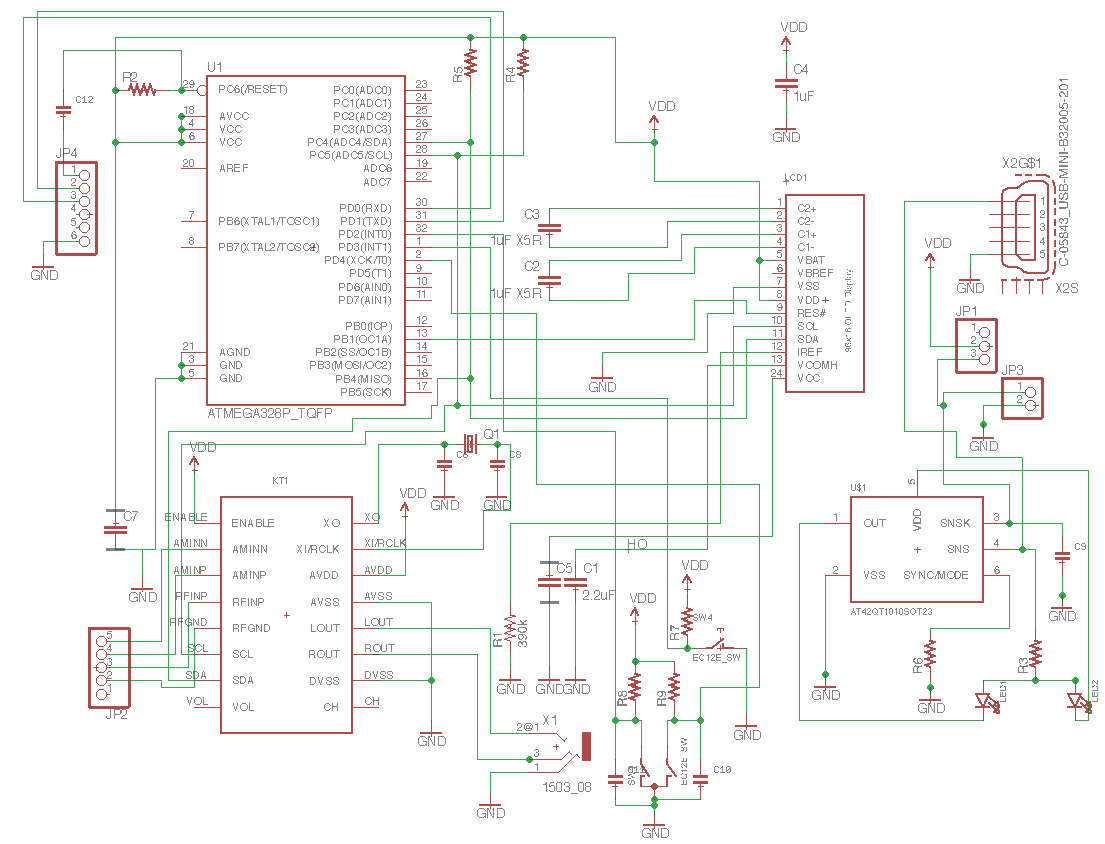 hight resolution of this is the whole schematic in the schematic i should point out at42qt in right down part is just put to use sot23 6 form factor and real parts