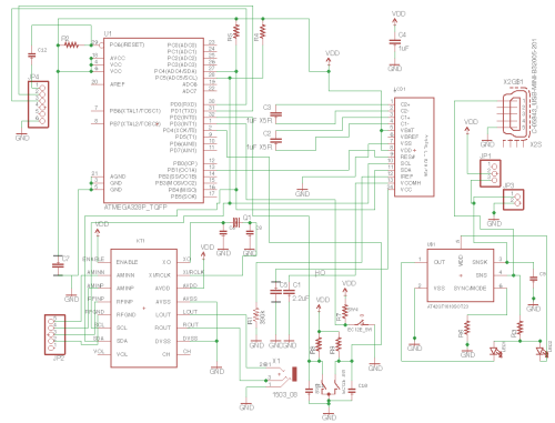 small resolution of this is the whole schematic in the schematic i should point out at42qt in right down part is just put to use sot23 6 form factor and real parts
