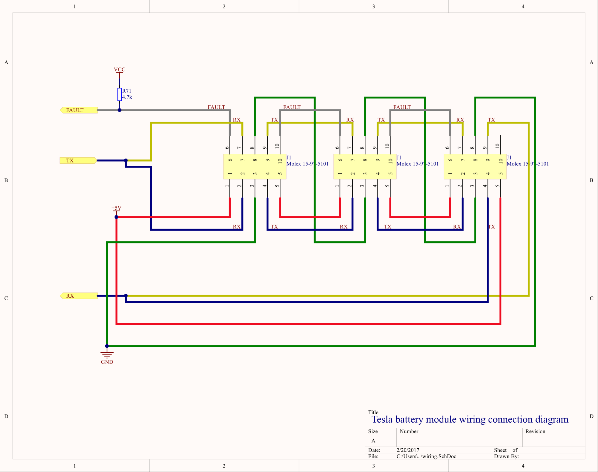 hight resolution of all this wiring is isolated from the cells so the gnd and 5v can safely be on the 12v wiring potential in an automotive application