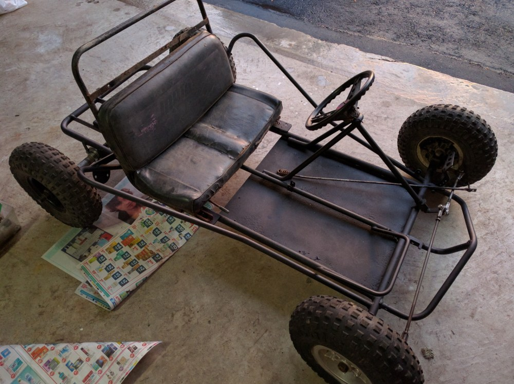 medium resolution of this is the rolling chassis that we purchased for about 125 it s in good condition except for the rotted seat and missing throttle pedal