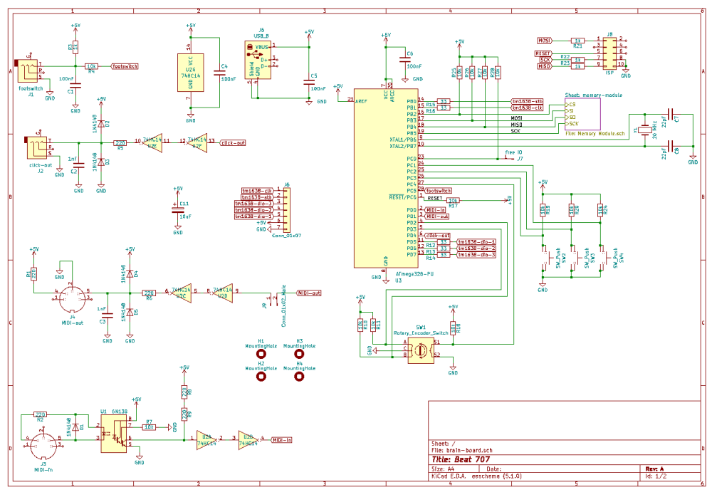 medium resolution of a nice feature in kicad is to create hierarchical sheets you can see this at the top right in the circuit diagram for the memory module