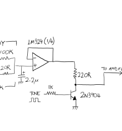 to reduce the extra components used and as a prototype i modified this to the following schematic apologies for my crappy handwriting i used a cheap  [ 1920 x 1080 Pixel ]