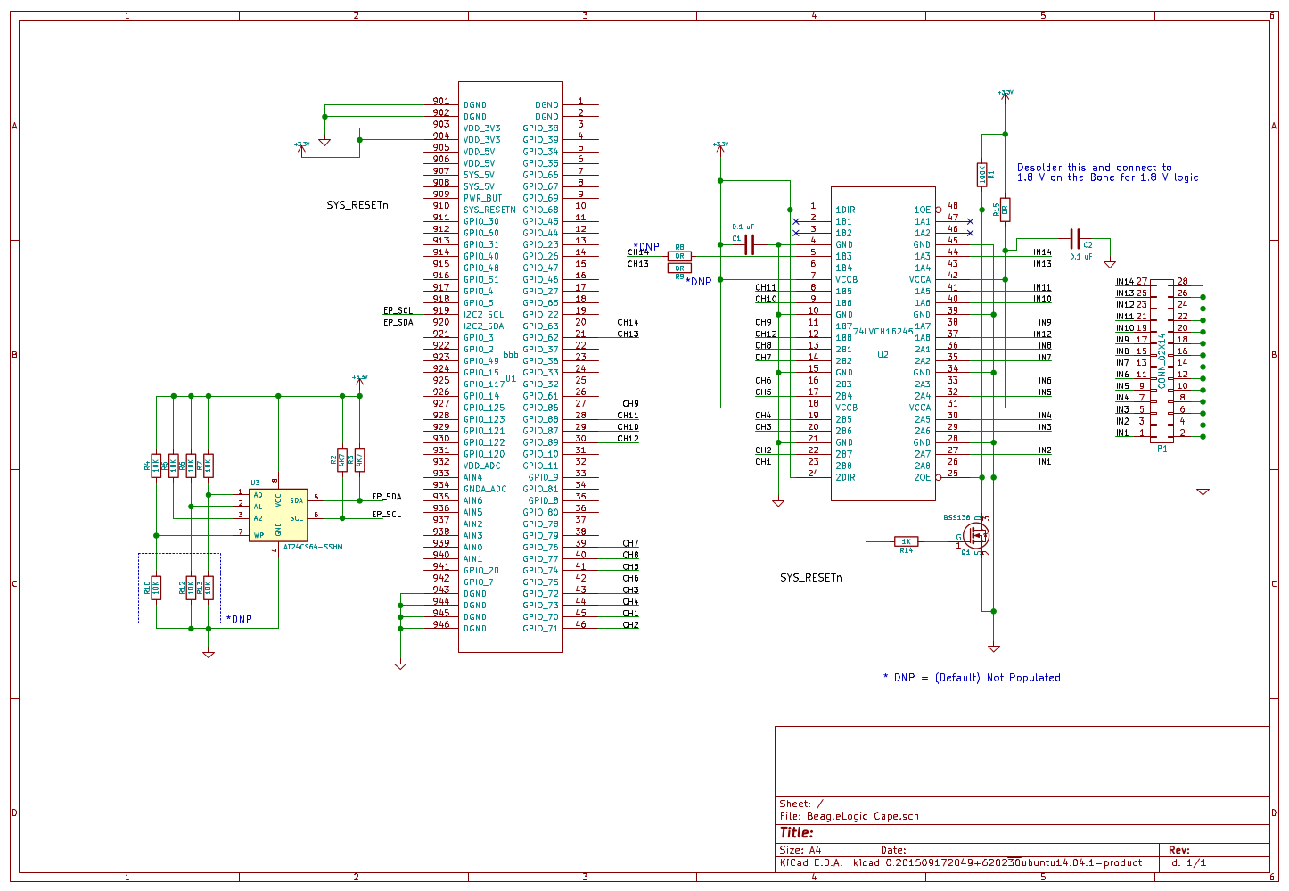 hight resolution of at the heart of the schematic is a 74lvch16t245 logic level translator ic this translator inputs are 5v tolerant so it shields and up to a limited level
