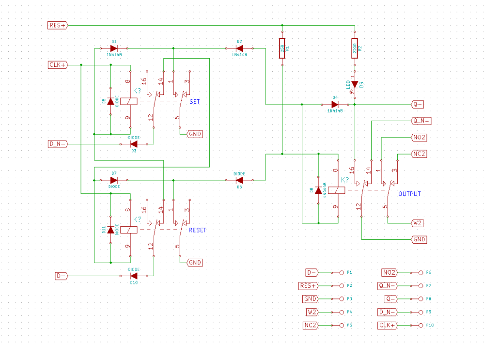 medium resolution of i ordered the cheapest 5 volts relays i could find off of ebay their size is the main determining factor in the circuit layout of the flip flops