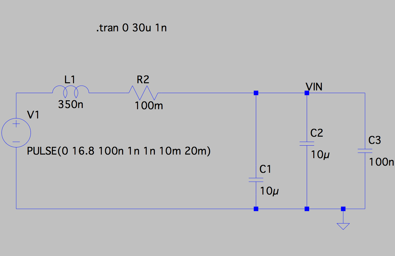 hight resolution of the inductance is just the wire leads from the battery to its connecter and then from the bec connector to the pcb i measured a fairly constant battery