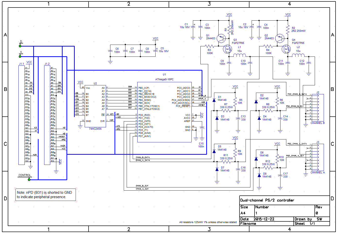 hight resolution of dual channel ps 2 controller schematic