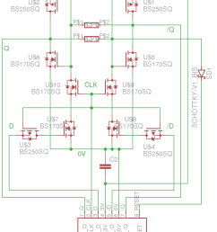 only these identical modules are needed to build all the counters and some more transistors perform some glue logic non power of two counters reset  [ 790 x 1020 Pixel ]
