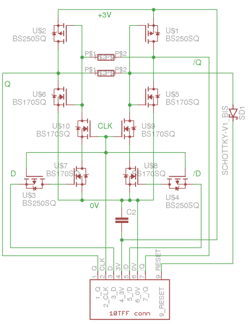 small resolution of only these identical modules are needed to build all the counters and some more transistors perform some glue logic non power of two counters reset
