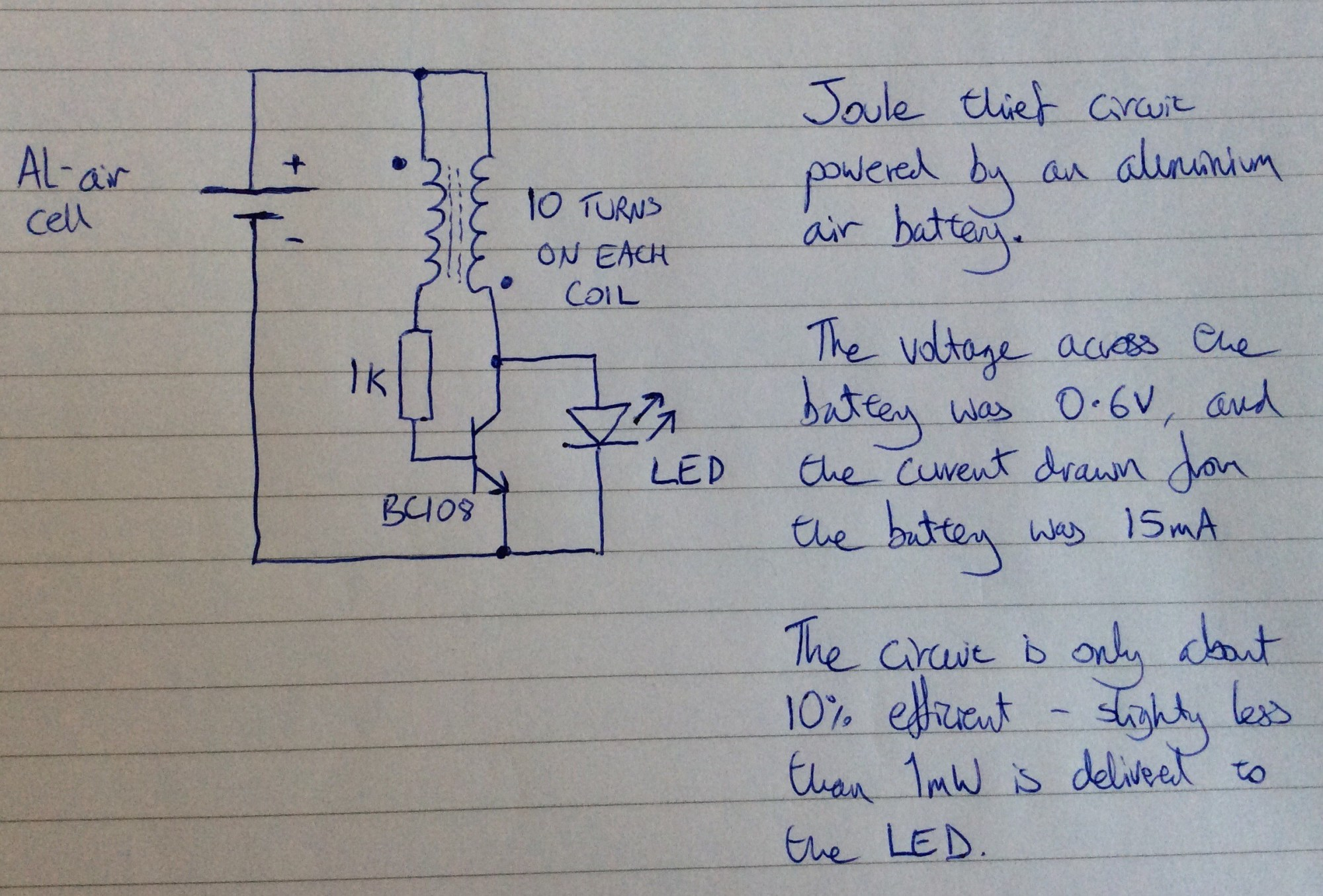 hight resolution of joule thief