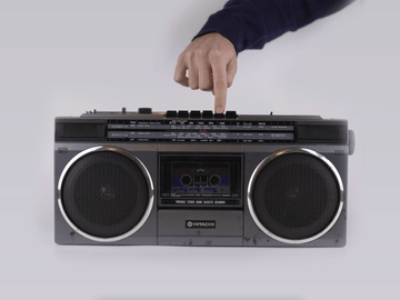 Vintage Spotify Boombox with NFC Cassettes