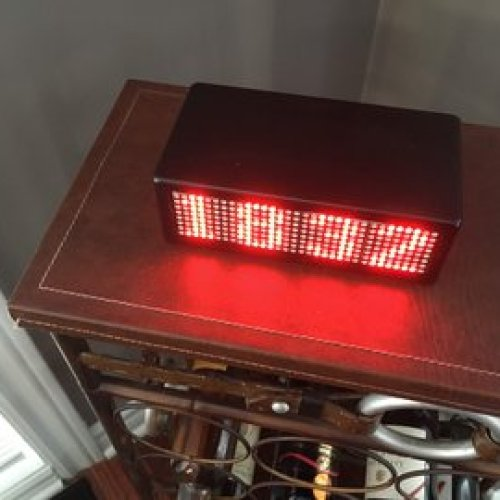WiFi sync precision dot matrix clock