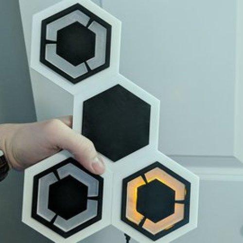 Sci-Fi Hexagonal Wall
