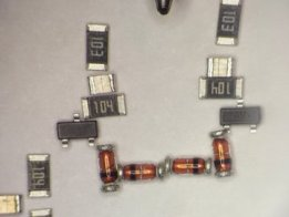 Point-to-point SMT Transistor clock.