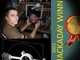 R-clock POV  -  Hackaday 2013 Fubarino winner
