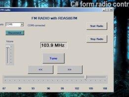 PC FM radio with RDA5807M