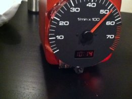 Clock From Car Tachometer